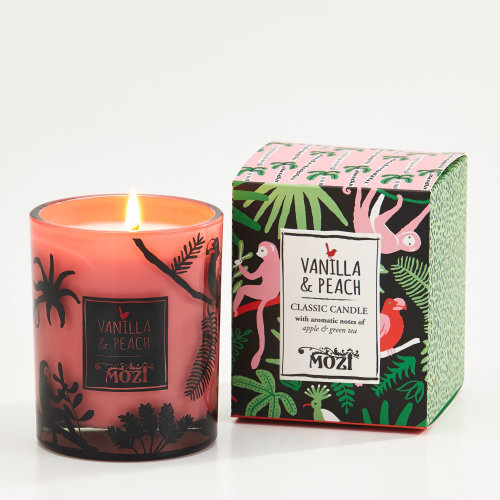 Digital art of vanilla candle packaging