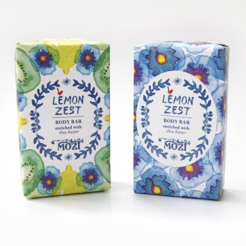 Lemon zest soap packing design by Annie Davidson