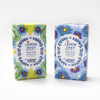 Lemon zest soap packing design by Annie Davidson