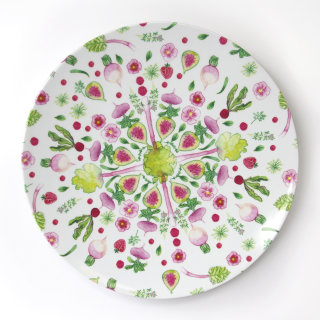 fruity, floral, melamine, pattern, watercolour