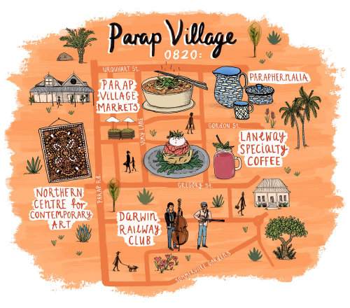 Illustration de la carte Jetstar de Parap Village, Darwin
