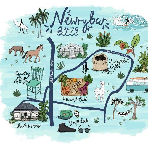 Newrybar map illustration