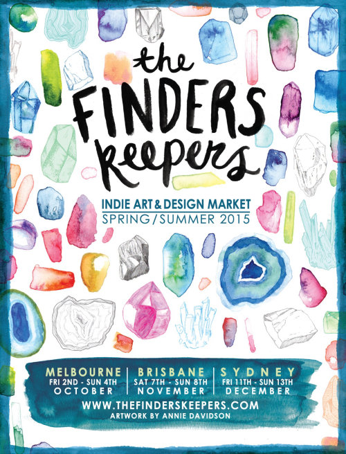Finders Keepers market Conception d'affiche publicitaire