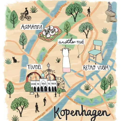 Kopenhagen map illustration