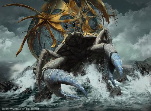 Crab comic art