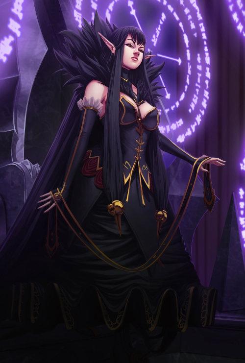 Gaming Fierce alien woman