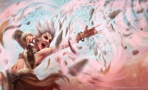 Lady wizard fantasy illustration