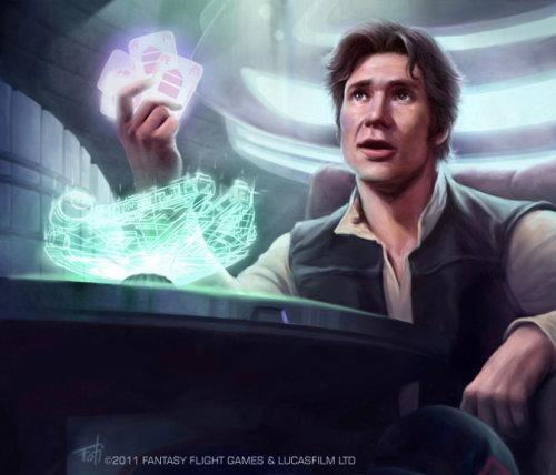 Art de style fantastique de Han Solo