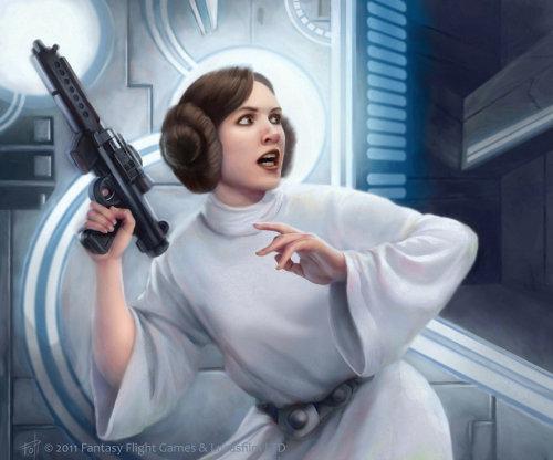 Fantasy style art of Leia Organa