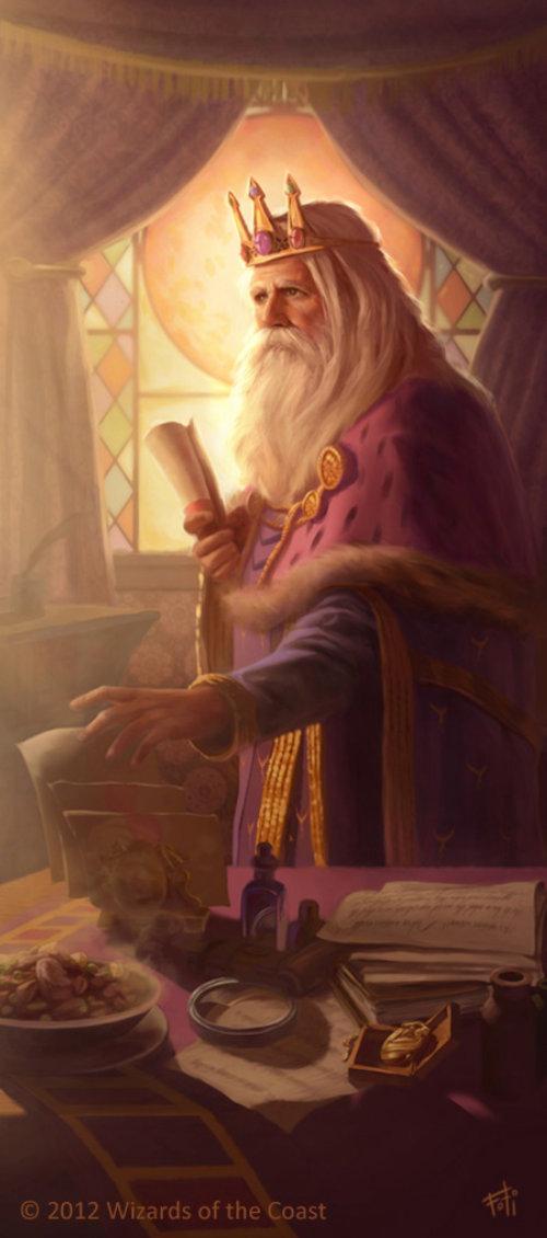 Fantasy style art of King Foril