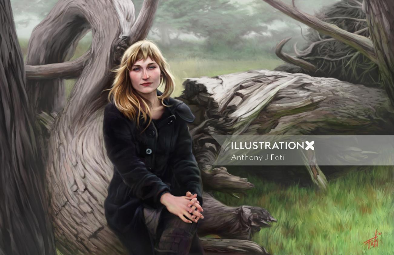 Catherine beauty illustration
