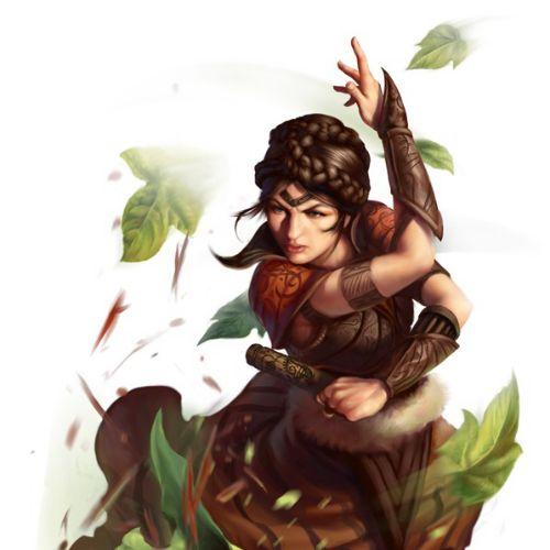 Surreal illustration Dungeons & Dragons Leaf Shield