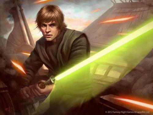 Star Wars: The Card Game - Luke Skywalker by Tony Foti