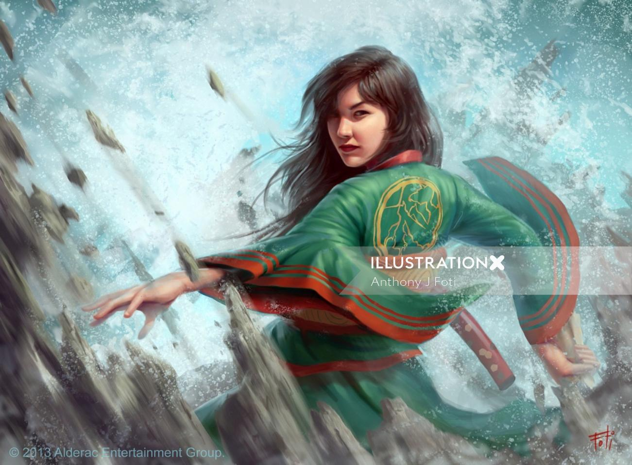 Illustration of Yoritomo Harumi: Legend of the Five Rings