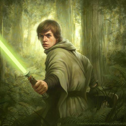 Art of Luke Skywalker Star Wars character