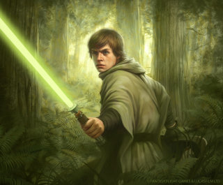 Art of Luke Skywalker Star Wars character