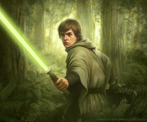 Arte del personaje de Luke Skywalker Star Wars
