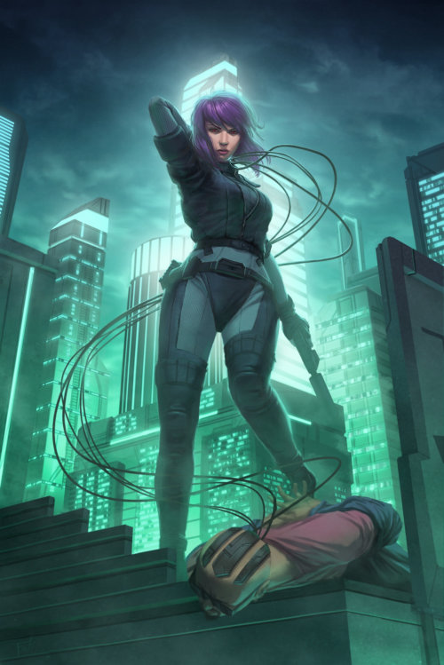 Major Kusanagi Character art por Anthony J Foti