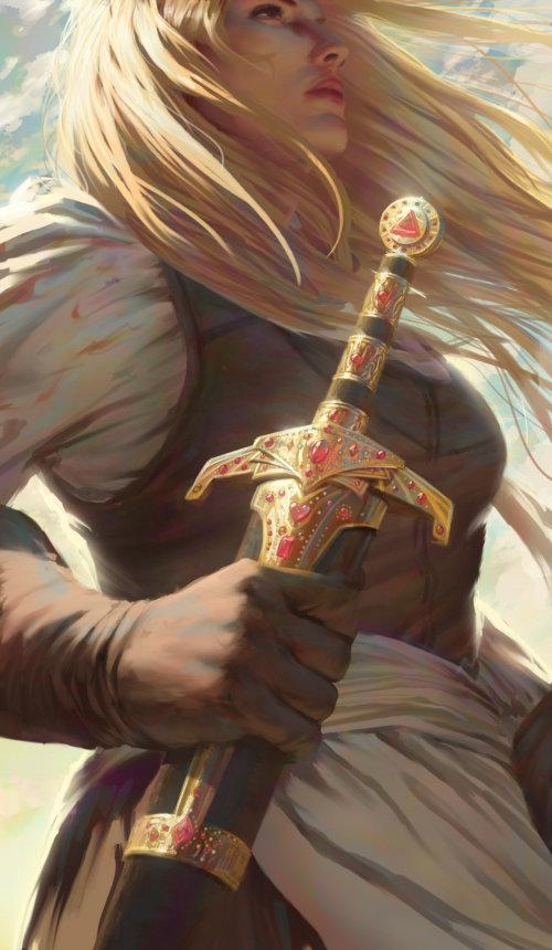 Beautiful lady fantasy illustration