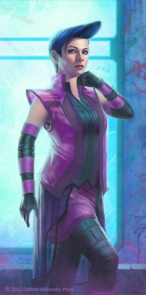 Female robot illustration for NOVA