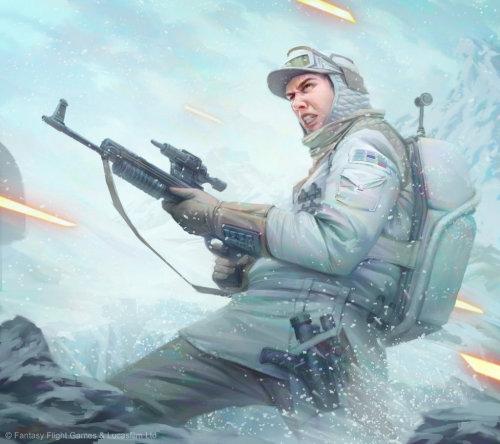 Fantasy illustration of Hoth soldier