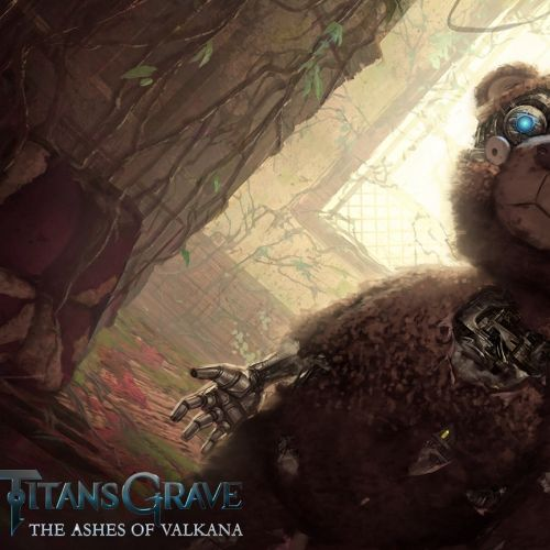 TitansGrave character art of bear robot