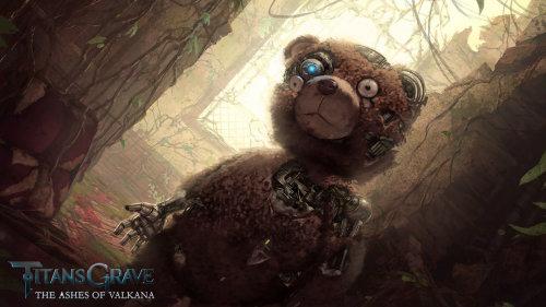 TitansGrave personnage de robot ours