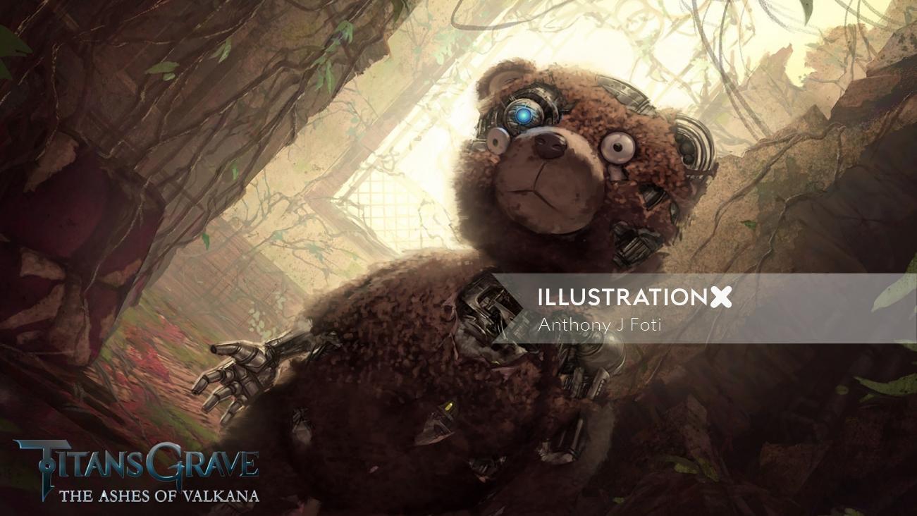 TitansGrave character art of bear robot