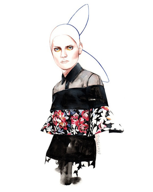 DelPozo fashion illustration by Antonio Soares