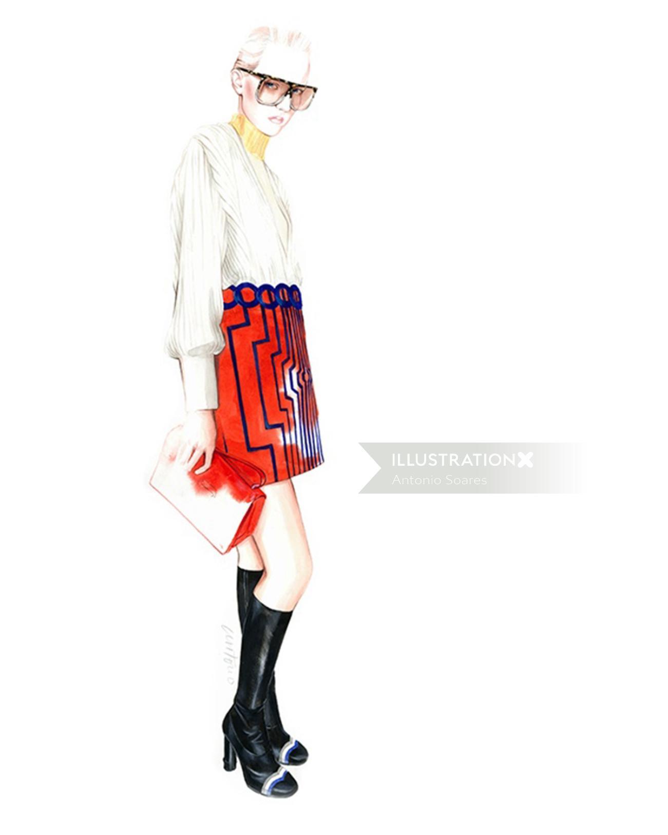Watercolour graphic LOEWE Fall/Winter 2016