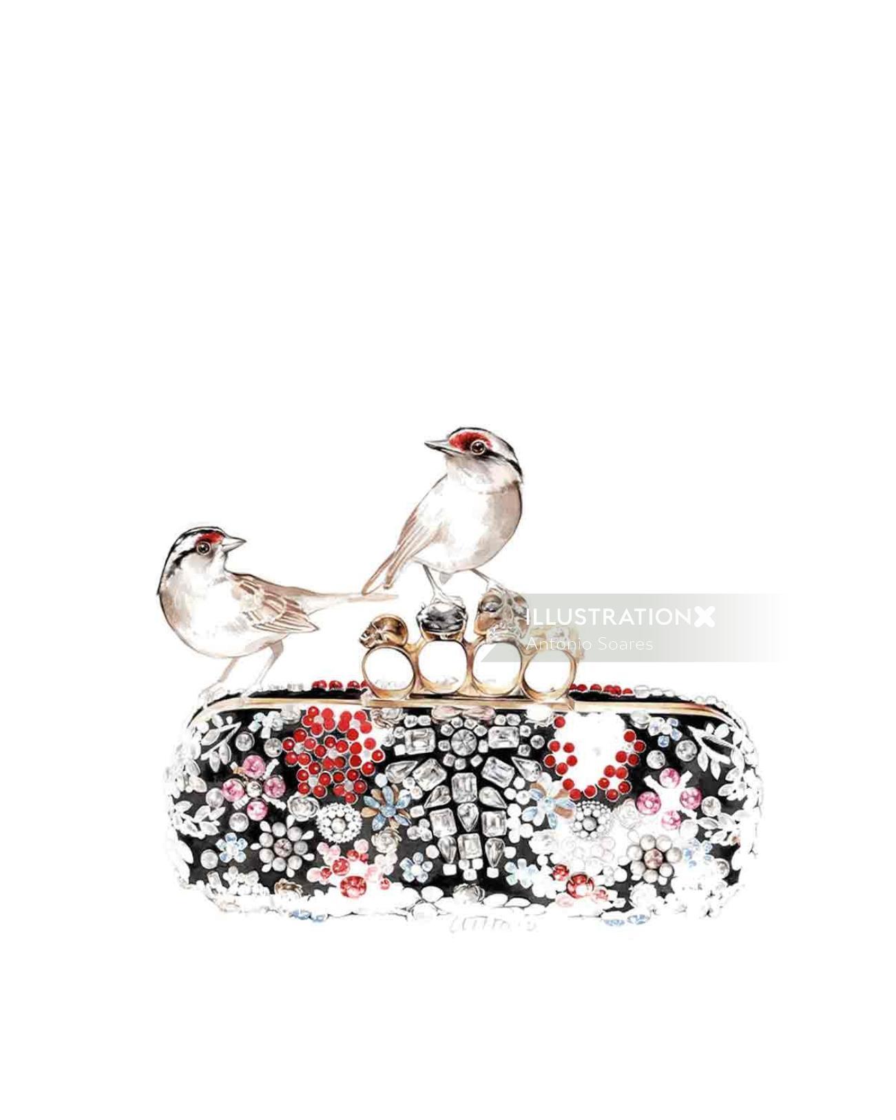 McQueen fashion illustration by Antonio Soares
