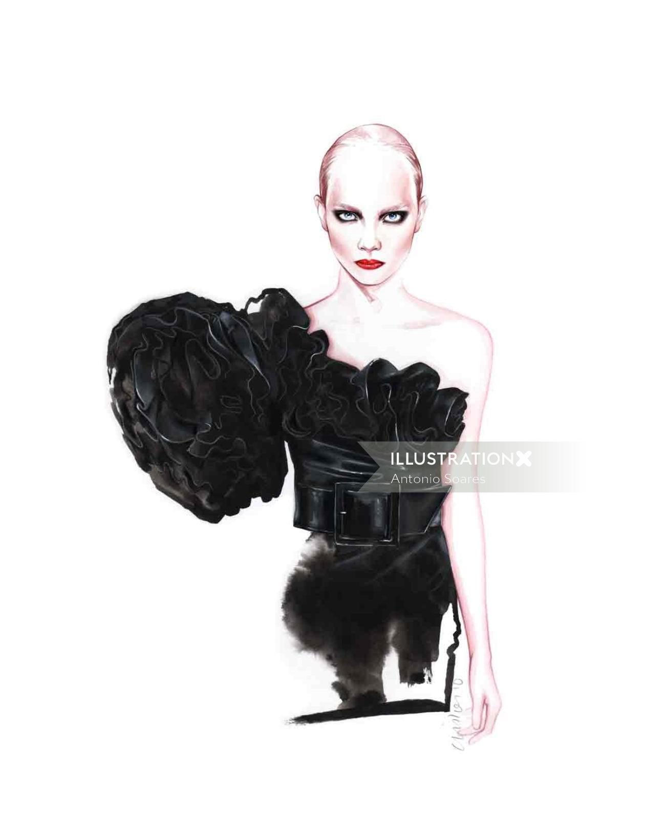 Fashion design for Saint Laurent