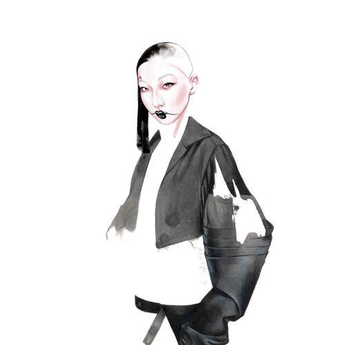 Watercolor illustation for Junya Watanabe