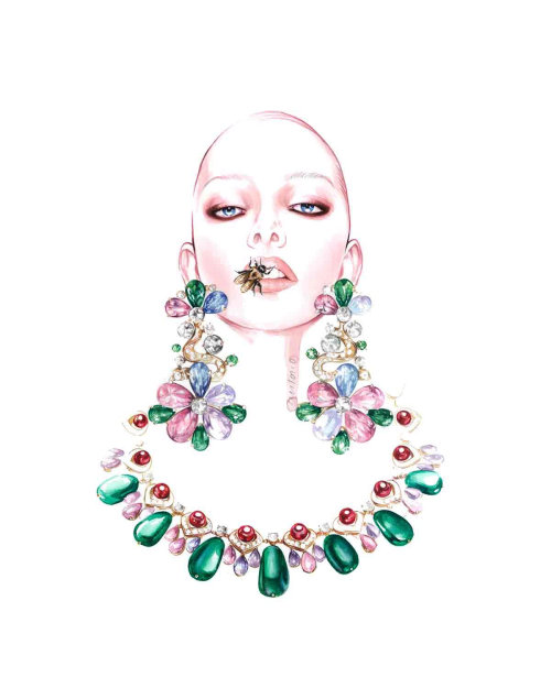 Jewellery Illustration For BVLGARI