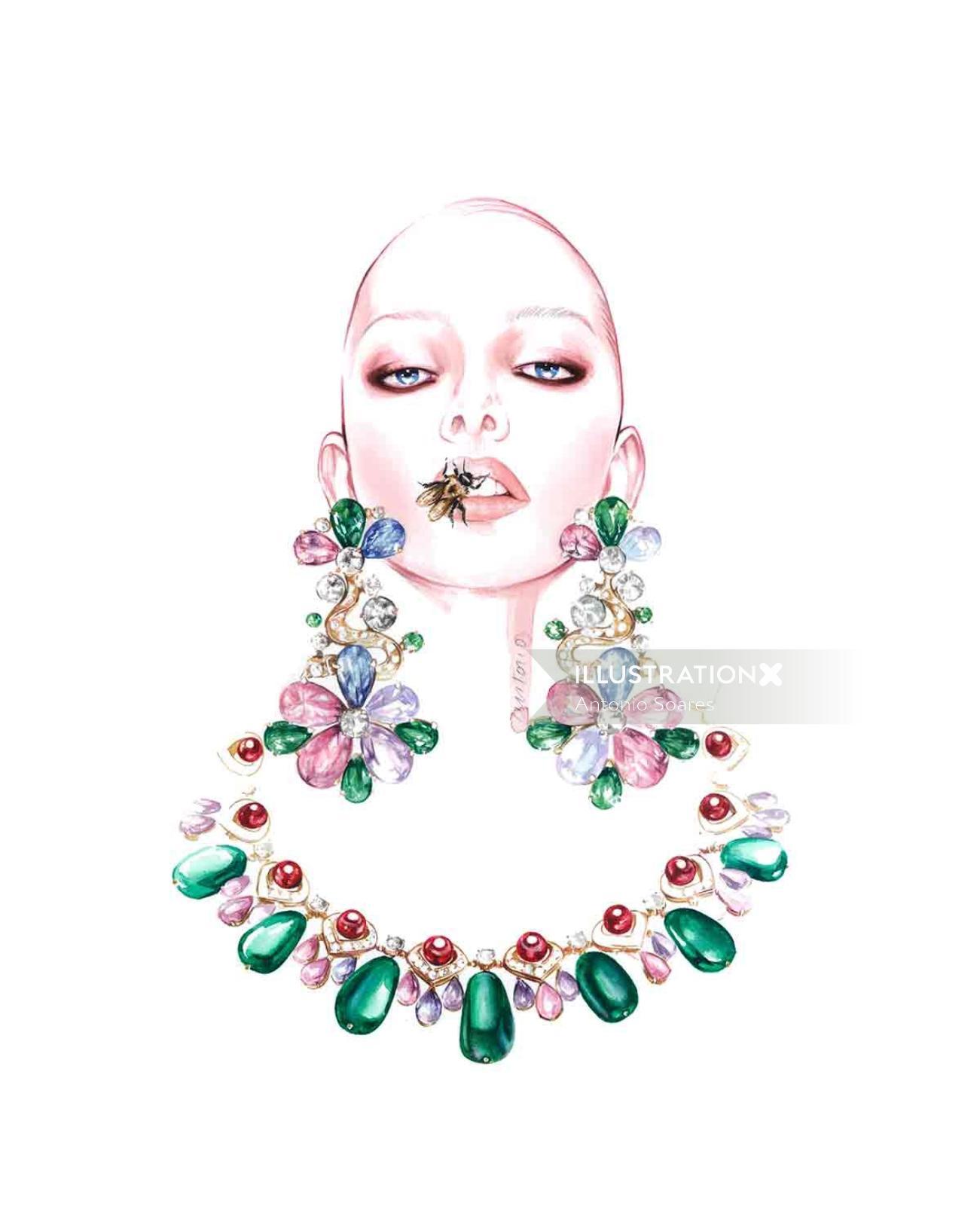 Jewellery Illustration For BVLGARI