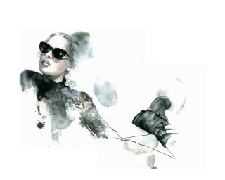 Woman Illustration For Portuguese Soul Magazine