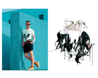 Dido and Aneas illustration project for Nuno Baltazar Spring Summer 2011