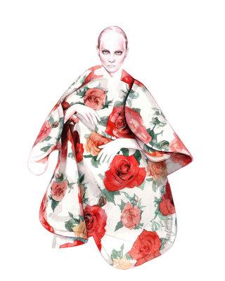 Fashion Woman Illustration By Antonio Soares