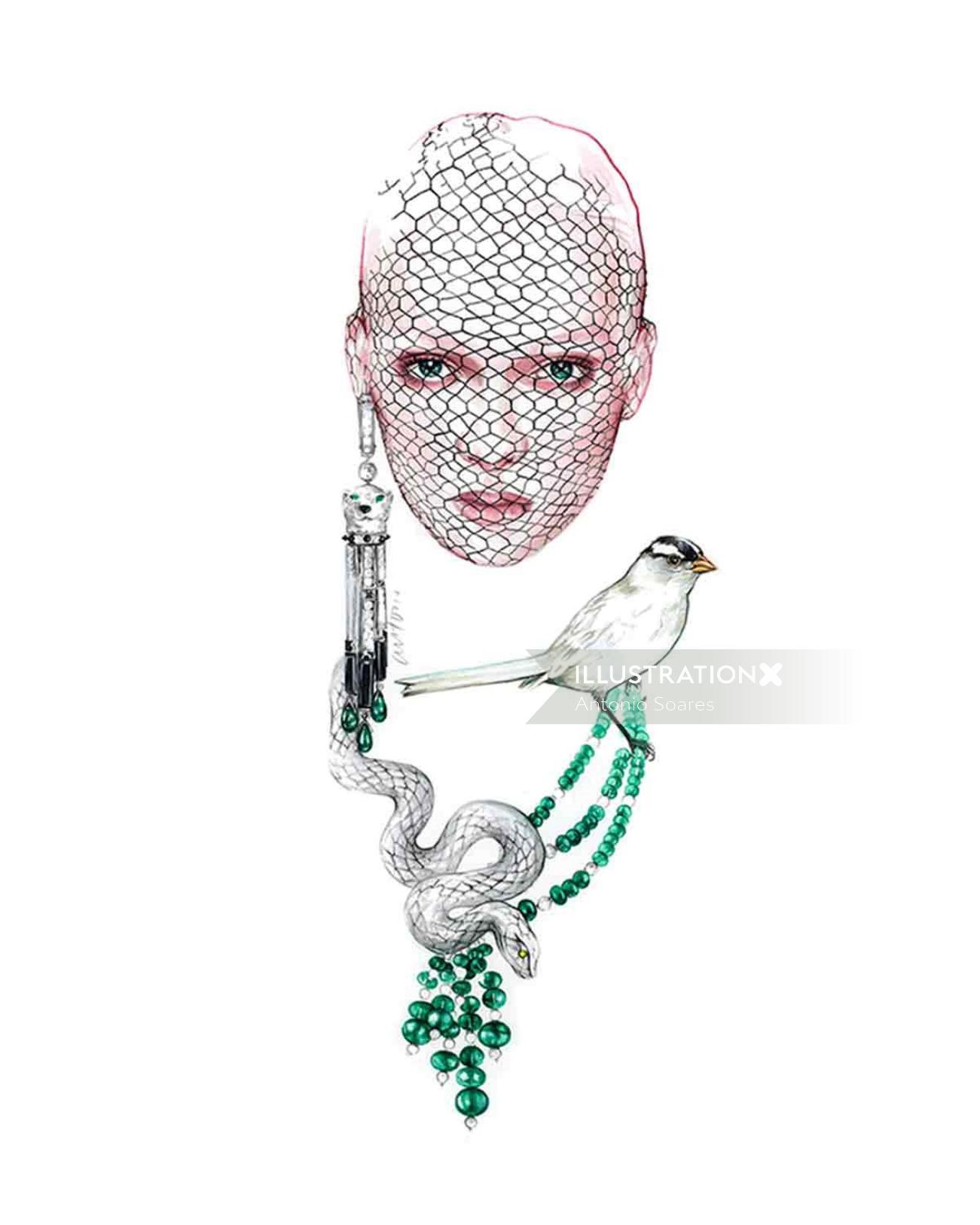 Watercolour Fashion Jewellery By Antonio Soares