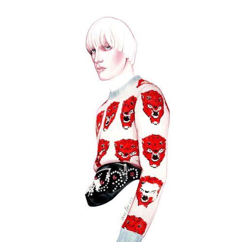 Fashion illustration of a man