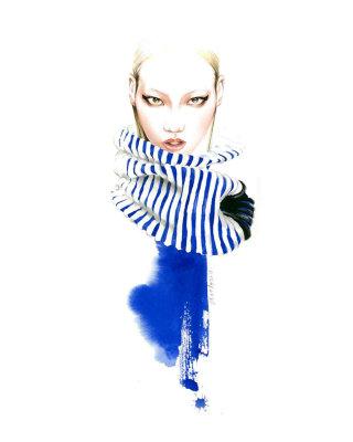 Fashion illustration of woman