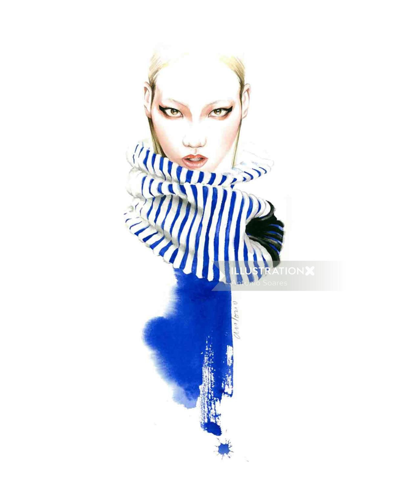 Fashion illustration of woman