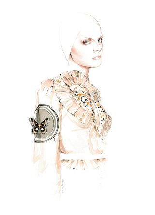 Watercolour Fashion Art By Portugal Based Illustrator