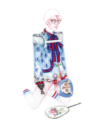 Gucci fashion illustration