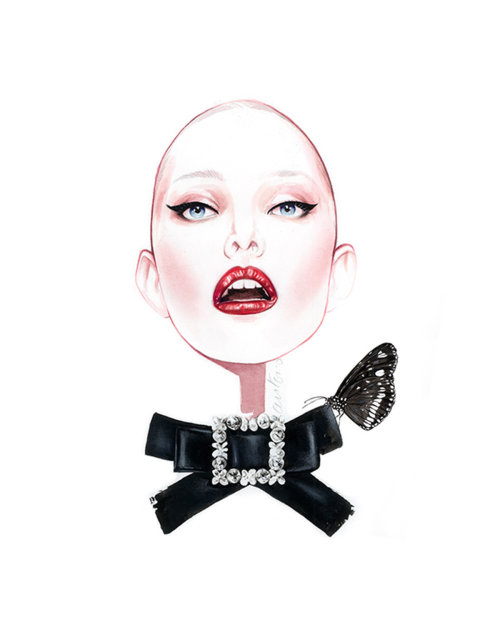 Woman Beauty Illustration For Dolce & Gabbana
