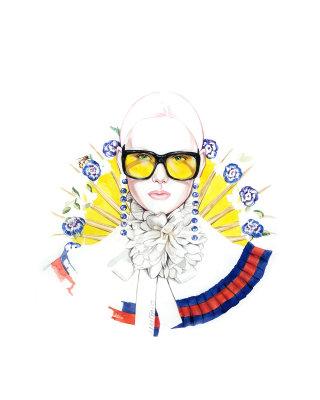 Woman Fashion Illustration For Gucci