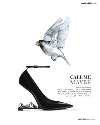 CALL ME MAYBE' Editorial For Saint Laurent Heels