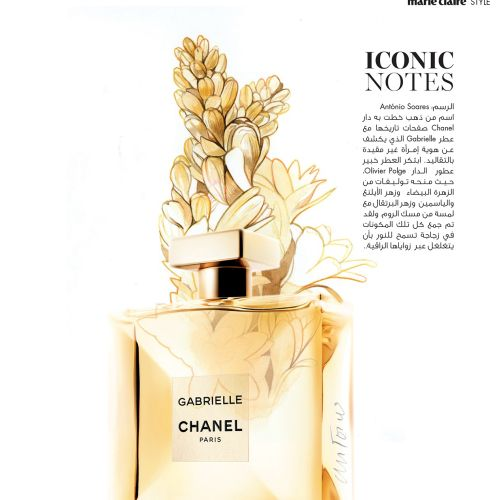 Editorial Illustration For Gabrielle Chanel Perfume