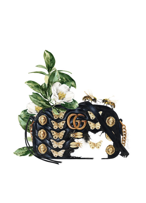 An Illustration For Gucci Handbag