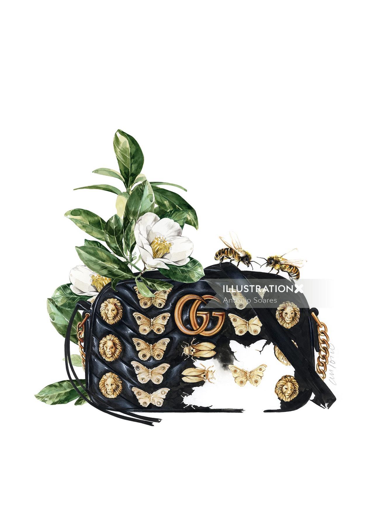 An Illustration For Gucci Handbag